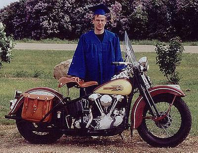 Matt With Knucklehead On Graduation