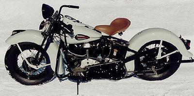 1944 Harley-Davidson Knuckelhead Left Side