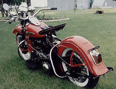 1947 Harley-Davidson Knucklehead Back