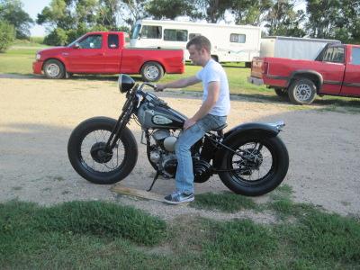 1941 Harley-Davidson WLA Bobber Left Side