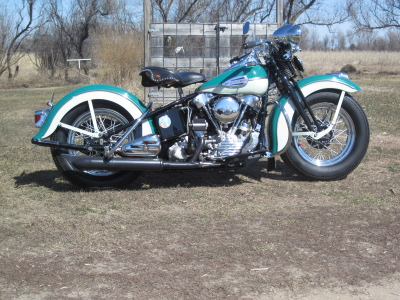 1946 Harley-Davidson Knucklehead FL Right Side