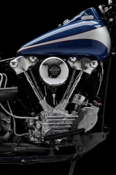 1946 Harley-Davidson FL Knucklehead Bobber Engine